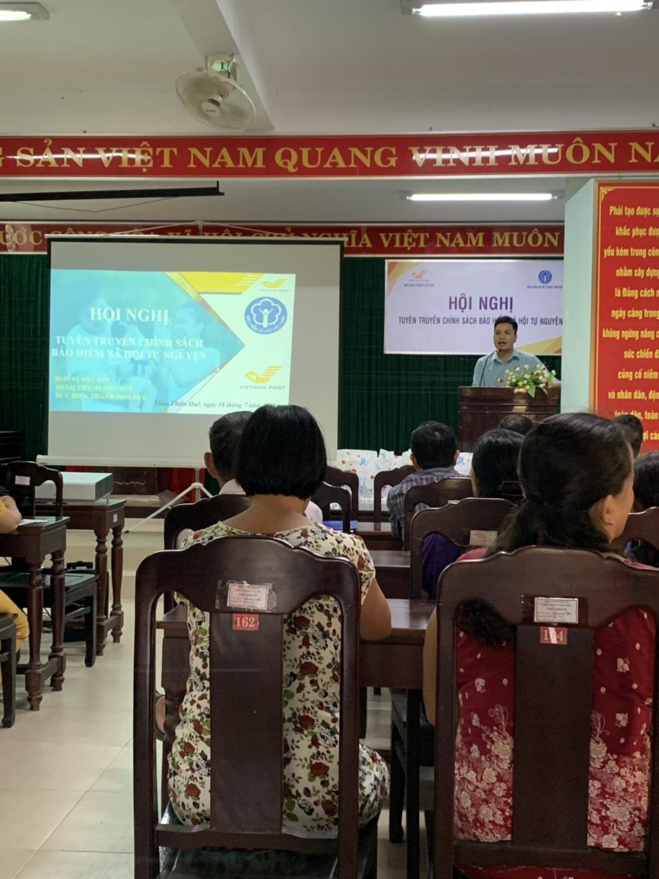Hội nghị được tổ chức tại UBND phường Thủy Biều, Tp Huế