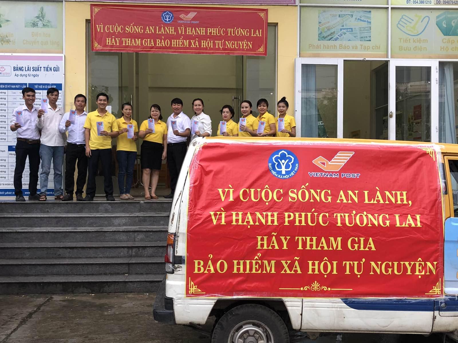 Bưu điện TX Hương Thủy sẵn sàng ra quân tuyên truyền và phát triển người tham gia BHXH tự nguyện