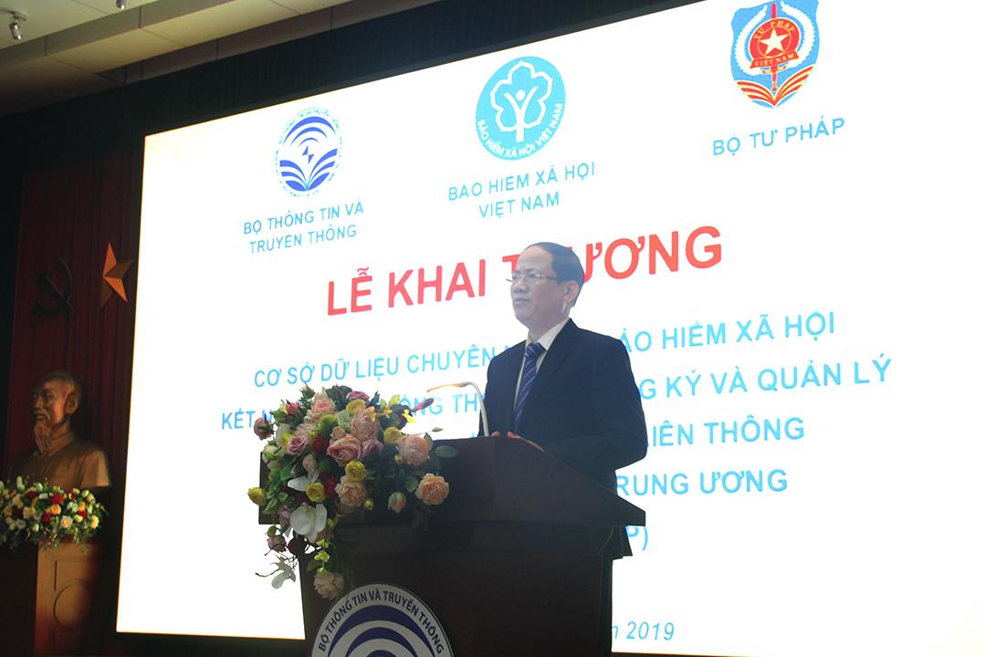 Thứ trưởng Bộ TTTT Phạm Anh Tuấn khẳng định xây dựng các cơ sở dữ liệu là một trong những việc quan trọng nhất  hướng tới Chính phủ số, nền kinh tế số