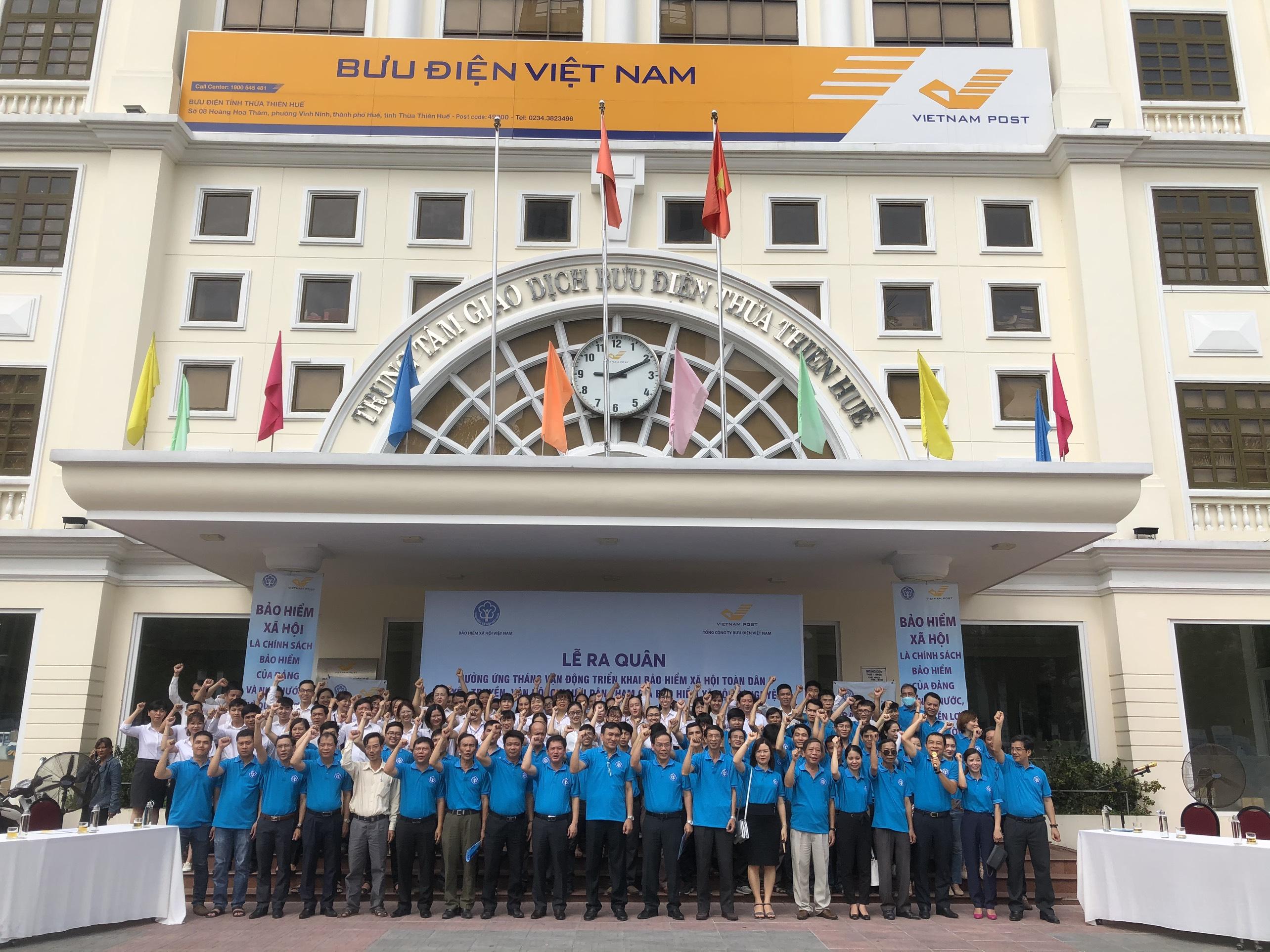Lễ ra quân được tổ chức tại Bưu điện tỉnh Thừa Thiên Huế